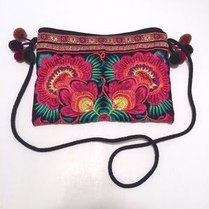 Adorable Embroidered BOHO Floral Purse